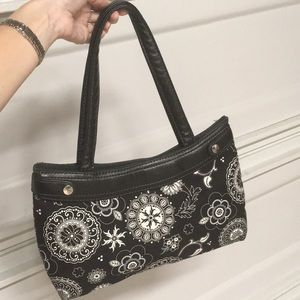thirty-one Bags - Thirty-One Bag Purse black & white floral NICE